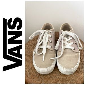 Vans cream shoes size 1 youth (for boys/girls)